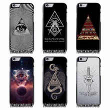 Pyramid Illuminati Cover Case For Samsung S4 S5 S6 S7 S8 Eege Plus Note 2 3 4 5 8 for Huawei P8 P9 P10 Lite 2017(China)