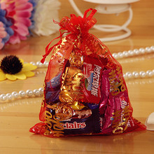 Good Price 100pcs Wedding Small Gift Handmade Mesh Package Bag Candy Gift Package Packing Bag Wedding Party Supplies(China)