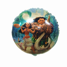 QGQYGAVJ 1pcs18inch MOANA Foil Balloons Inflatable classic toys Balloon happy Birthday balloons Party Supplies air balloons(China)