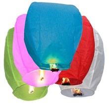 Multicolor Paper Chinese Lanterns Fire Sky Flying Candle Wish Lamp Birthday Wish Party Wedding Decoration