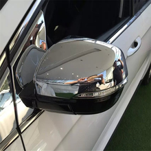 car auto cover styling For Ford Edge 2015 2016 2017 ABS chrome side fender wing rearview door back mirror cap accessories trim