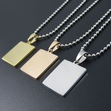Higher Polished 23mm*20mm Gold-color Rose Gold Color Stainless steel dog tags pendant necklace, Fashion DIY Jewelry Parts