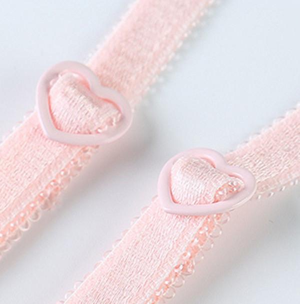 Lace Bra Set Wire Free Underwear Set Women Heart Pattern Lingerie Sets A B C 3/4 Cup Bralette Bra Sets Back Two Rows Underwear 16