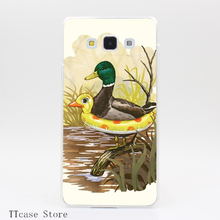 1074CA DUCK IN TRAINING Transparent Hard Cover Case for Galaxy A3 A5 A7 A8 Note 2 3 4 5 J5 J7 Grand 2 & Prime