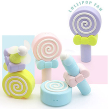 Cute lollipop Child Pocket charger Small fan student portable handheld children mini Fan(China)