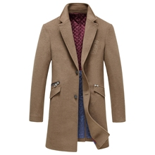 Woolen Overcoats for Men Superior Quality Fashion Brand Jacket Long trench Overcoats Business Dress Men's Wool Jackets Gent Life