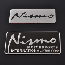 Aluminum Motorsport Car Sticker Badge Emblem Decal For Nissan Nismo Tiida Teana Skyline Juke X trail Almera Qashqai Note Styling