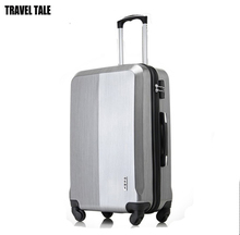 "TRAVEL TALE 20""24""28 Inches bagages valises rolling luggage ABS/PC silver hardside suitcase travel bag"