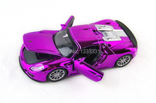 Brand diaceast purple  plated brand 32081 1:32 Pull Back Acousto-optic racing metal Car Model children toy 4 color