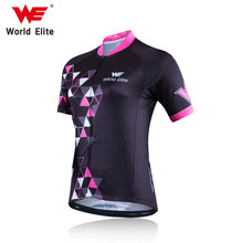WORLD ELITE WE Cycling Jersey 2018 Pro Team women Summer MTB Bike Jersey Breathable Cozy Bicycle Jersey Cycling Clothing(China)