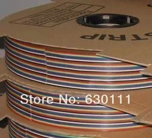 ribbon cable 10 WAY Flat Color Rainbow Ribbon Cable wire Rainbow Cable 10P ribbon cable 1.27MM pitch 5meters/lot IN STOCK