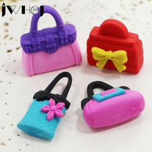 4 pcs/lot JWHCJ Sweet girl bags shape removable eraser stationery office school correction supplies papelaria child's toy gift(China)