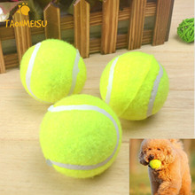 3pcs/pack Pet Dog Ball Toy Signature Tennis   Rubber Chemical Fiber Balls Pet Chew Toy for Small And Medium Dogs