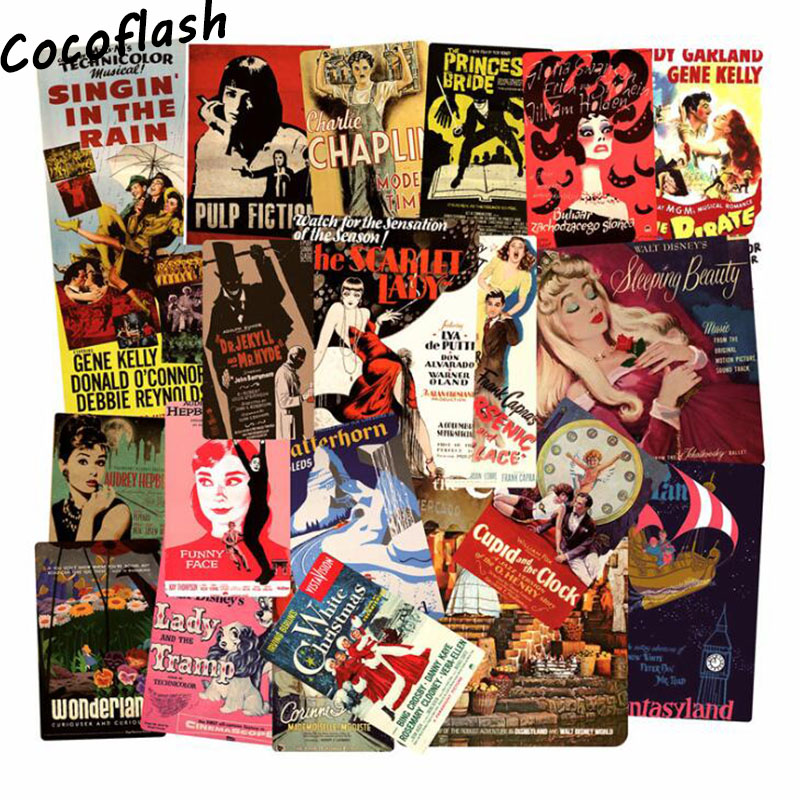 HOT 46 Pcs Famous Movie Theme Poster Cartoon Pvc Comic Sticker For Motorcycle Laptop Phone Cool Notebook Car Stickers Waterproof