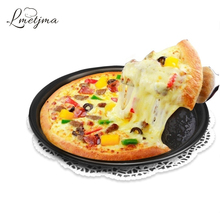 LMETJMA 10*10'' Round Stainless Steel Pizza Pan for Baking Wedding Cake Pizza Pie Bread Loaf for Microwave Oven Baking Pan K0028