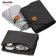 wool felt Mouse pouch sleeve Bag for Wireless Mouse Storage Laptop adapter Charger USB Cable Multi Bag for Macbook Pro 2016 new