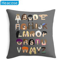 Harry Potter letter printing decorative pillowcase throw pillows for sofa kids room cojines decorativos almofada back cushion