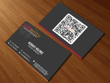 2016 Individuation Design Full Color Printing Business Card Custom Die Cutting To Special Shape Visiting Card QR Code Name card(China)