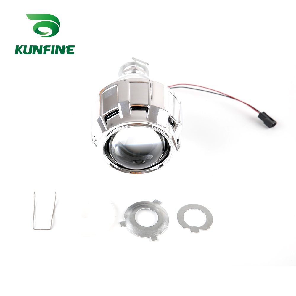 KUNFINE 2PCSlot 2.5 inch Bi-Xenon HID Projector Lens With high low beam for car headlight H1 halogen or xenon bulb (3)