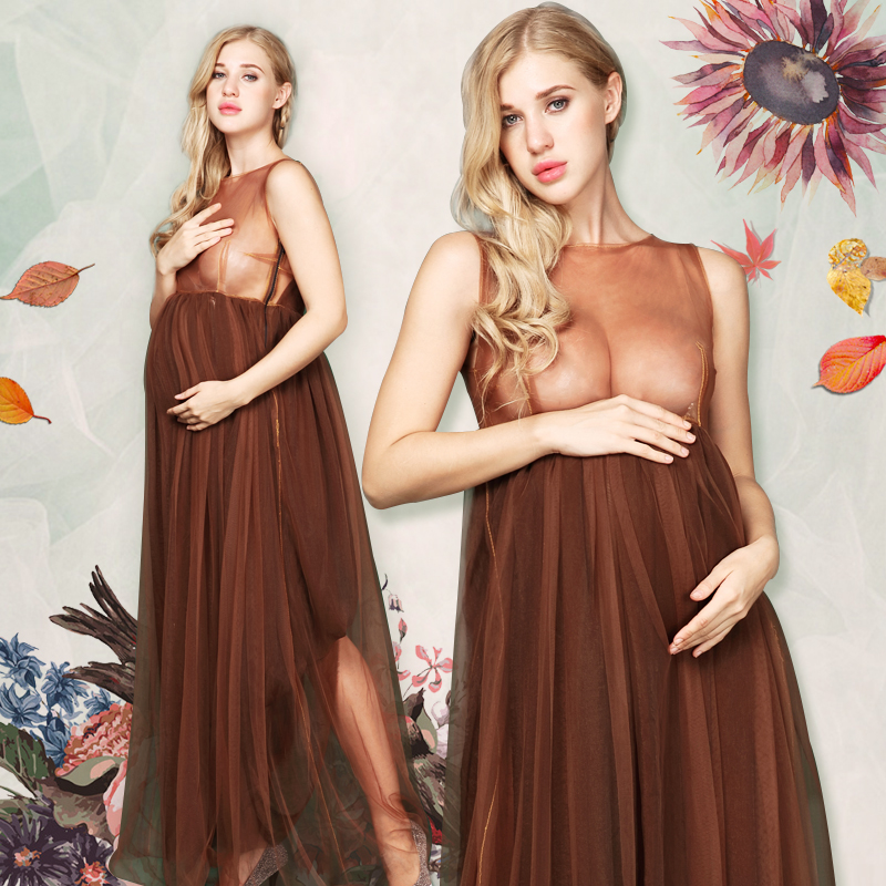 Women Skirt Maternity Photography Props Lace Gown Pregnancy Clothes Maternity Dresses For pregnant Photo Shoot Clothing<br>