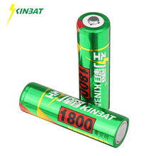 KINBAT 2pcs 1800mAh 1.2V AA Ni-MH Rechargeable Battery AA Pre-Charged NIMH Batteries Pack For Toys Microphone Remote Controls(China)