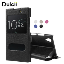 Buy DULCII Case Sony Xperia xa1 plus xa1 Cover Silk Texture Dual View Window Leather Coque Sony Xperia XA 1 Plus XA 1 Funda for $3.11 in AliExpress store