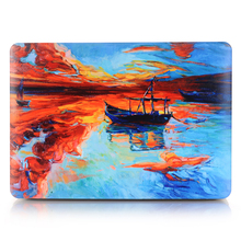 HRH Boat in the Lake Laptop Shell Protective Hard Case Sleeve for Macbook Pro Retina13 12 15 Air 13 11 New Pro Touch Bar 13 15(China)