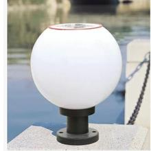 Outdoor Globe dia 250mm 1.2W 6V 1200mAh Solar Post Light,Pillar lamps,Street Lighting with stainless steel lampholder(China)