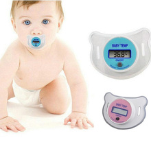 Baby Infants Nipple Pacifier Thermometer Temperature Celsius LCD Digital Mouth Baby Safety Soft Nipple LCD Digital Thermometer