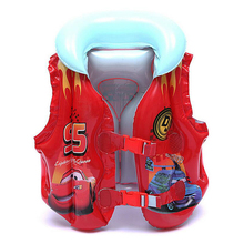 2017 Hot New Child Safety Thick Inflatable Life Jacket Infant Swimming Learning Ring Child Swim Vest Kids Cartoon Swimsuit