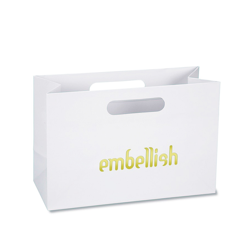 Laminated Paper Bags With hot stamping embossing uv logo