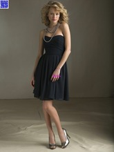 Nitree Cheap Short Black Bridesmaid dress Party Gown Fashion Collection Chiffon Sexy Luxury Designer Celebrity Romantic Spring