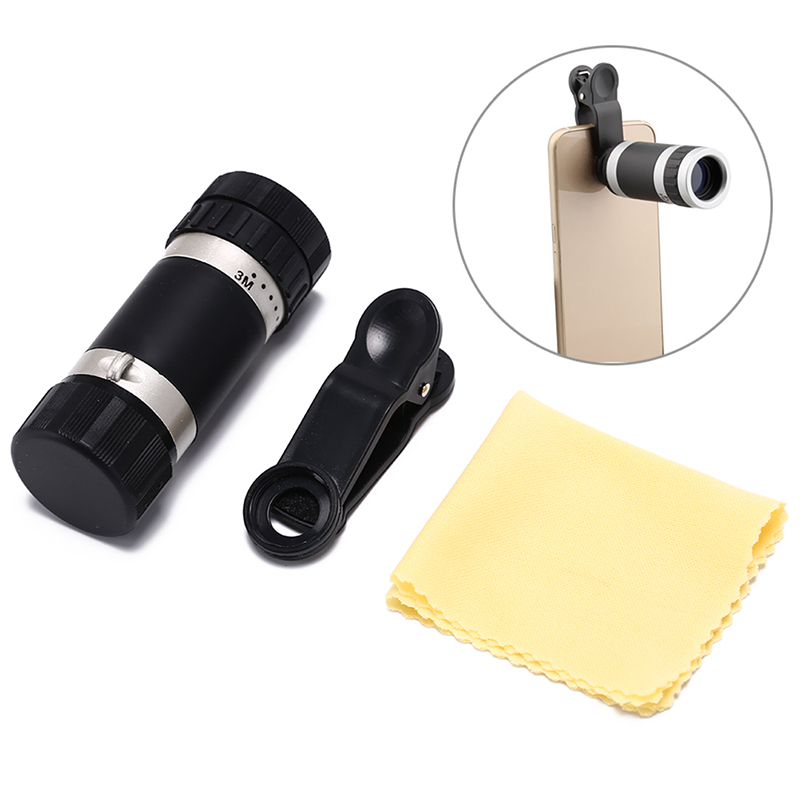 1pcs Upgrades Universal Mobile Phone Telephoto Lens 8X Mobile Phone Telephoto Lens Camera Magnifier With Clip For Smartphone