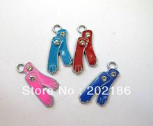 50pcs 25*14mm sock Hang Pendant Charm Fit Diy Phone Strips Wristband & Necklace(China)