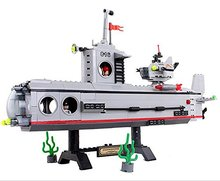 TopSun Military Series Building Bricks Building Blocks Set Submarine Bricks Children Educational Toy