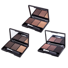 3 Color Eyebrow Powder Palette Cosmetic Makeup Shading Brush Mirror Box Brow Hot Selling