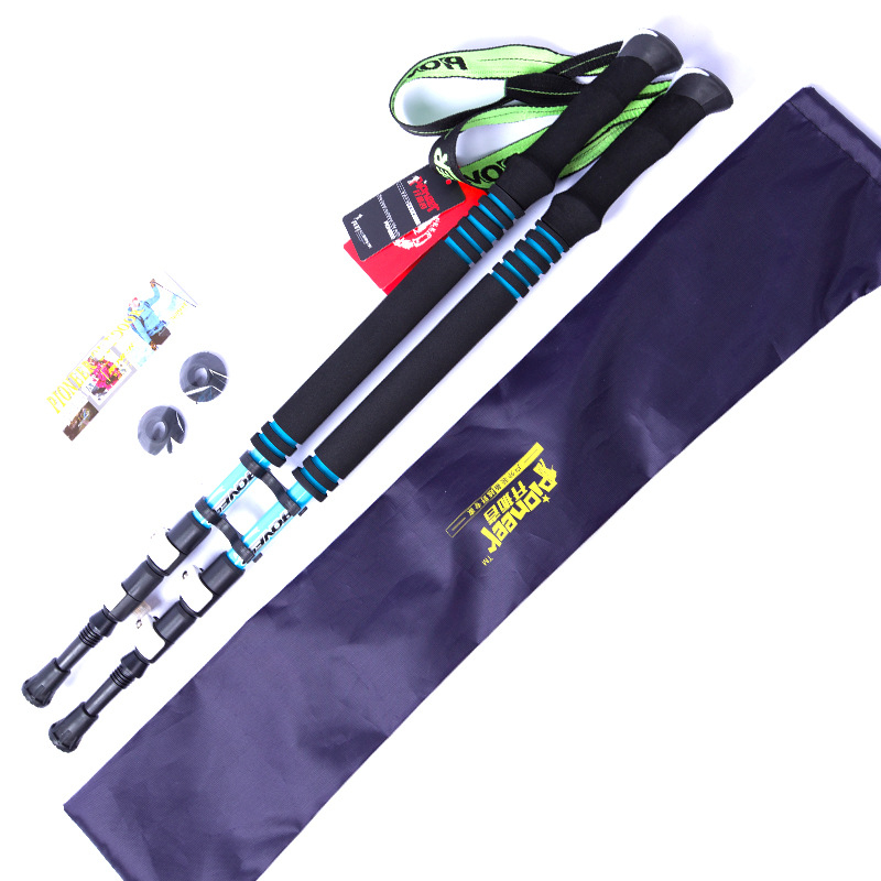 Pioneer Portland brave heart outside the department 6 carbon rod lock mountain skiing hike in super light outdoor with rod bag<br>