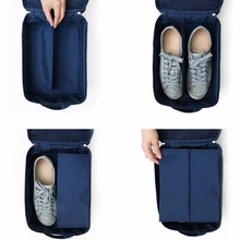 OUTAD Portable Double Layer Waterproof Shoes Bag Organizer Storage Oxford Cloth Pouch Pocket Handle Nylon Zipper Bag for Travel(China)