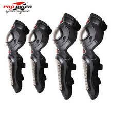 Pro-biker motorcycle elbow&knee pads motorcycle racing motocross knee pads moto protect knee joelheira e cotoveleira motocross(China)