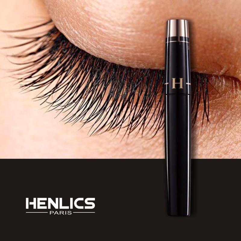 HENLICS Multi-functional 3D Mascara Waterproof Liquid Fiber Long Black Eyelashes Makeup Curling Mascara Lash Extension Mascara (19)