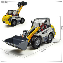 1:50 Diecast Alloy car model toy metal material vehicles alloy bulldozer excavator model car toy large toy excavator C1045(China)