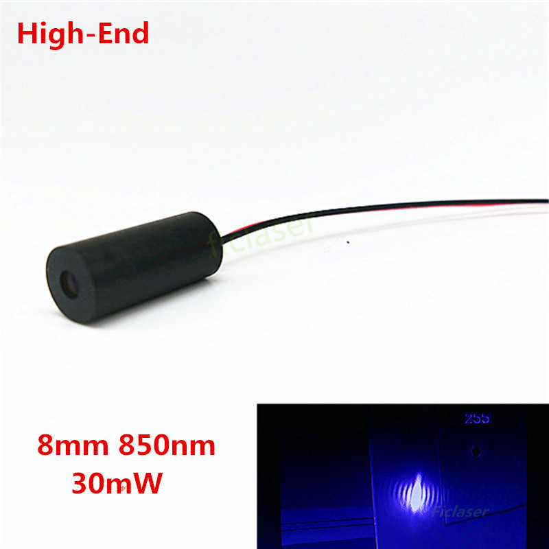 Class IIIB High End 8mm 850nm 30mW IR Laser Diode Module Dot  Industrial Grade APC Driver<br><br>Aliexpress