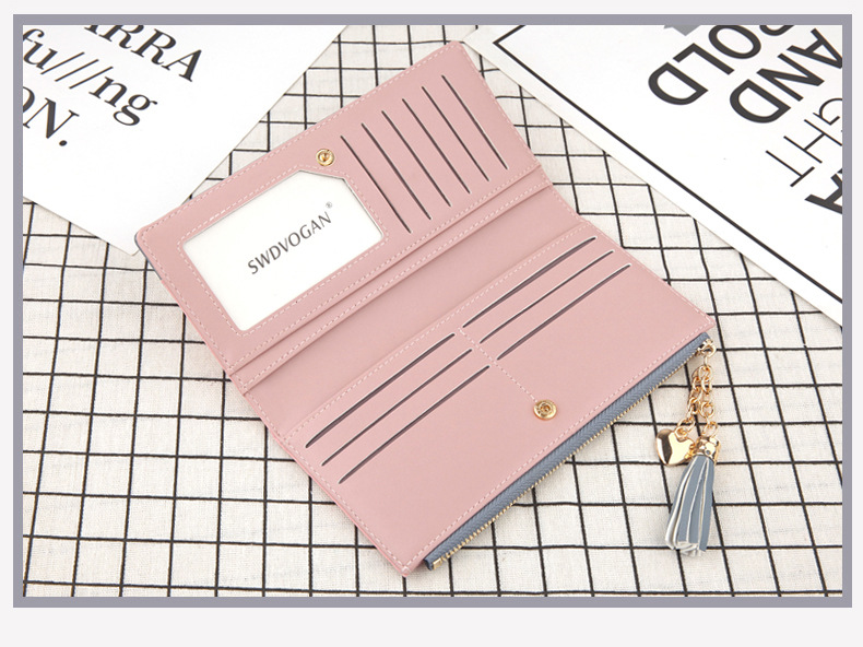 2018 Fashion Ladies Wallet Female Short Zipper Coin Purse Small Wallets Young Womens Tassel Hasp Purses Button Card Holder Pouch 93