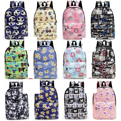 Solid Color Women floar printing Backpack High Quality Cute Canvas Backpack Female School Bags For Teenagers Mochila Escolar <br><br>Aliexpress