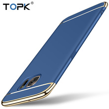 For Samsung S7 Case, Topk Original Luxury Plating Anti-Knock Plastic Phone Protective For Samsung Galaxy S7 edge Case