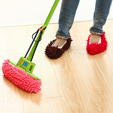 1 pcs Lazy Dust Mop Slipper House Cleaner Home Floor Polishing Dusting Clean Foot Socks Shoes Cleaning Brushes