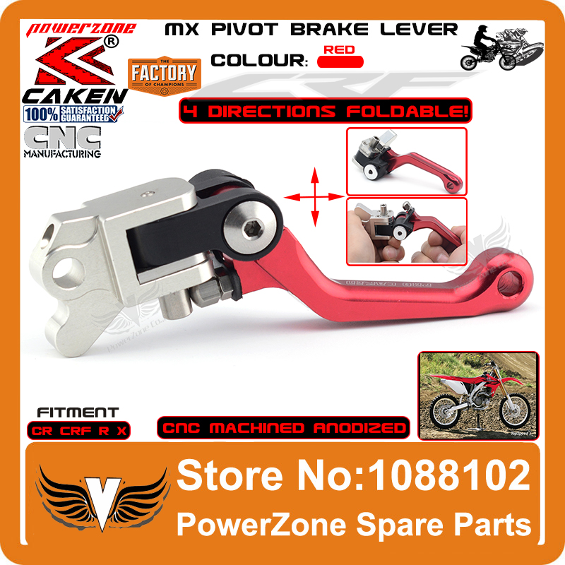 MX Povit Brake Lever 4 Direction Foldable Fit CR80 85 CRF125F 150R CR125 250 CRF230 CRF250R 250X CRF450R 450X Free Shipping<br>