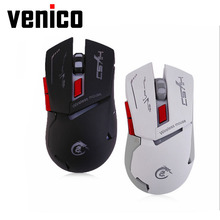 VENICO  USB Charging Colorful Luminescence Gaming Gamer Mouse 2400DPI Removable Computer PC Gaming Mouse promotion