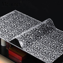 Meijuner 2017 Hot Sale Tablecloth Waterproof Transparent Rain Stone Square Plastic Tablecloth Square Round Customization