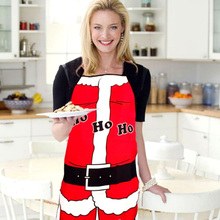 Newest Christmas Decoration Apron Kitchen Aprons Christmas Dinner Party Apron Merry Christmas Dinner Table Party Decoration